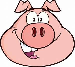 Happy Pig Head Cartoon Mascot Character Stock Illustration ...