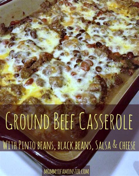 ideas for supper with hamburger dinner idea ground beef and bean casserole