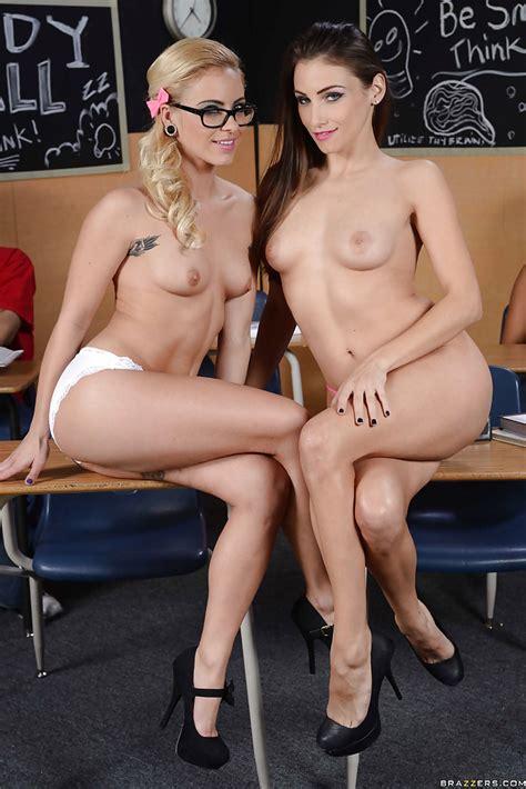 Hot schoolgirls Celeste Star And Cameron canada Flirting In The Classroom