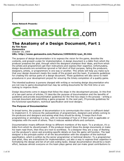 guide  creation  game concept document