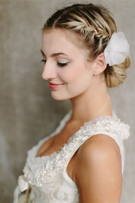 Side View Of Braided Bun For Wedding Wedding Hairstyles