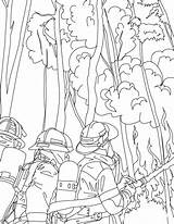 Firefighter Coloring Printable sketch template