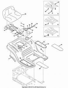 Mtd 13a1762f029  2009  Parts Diagram For Seat  U0026 Fender