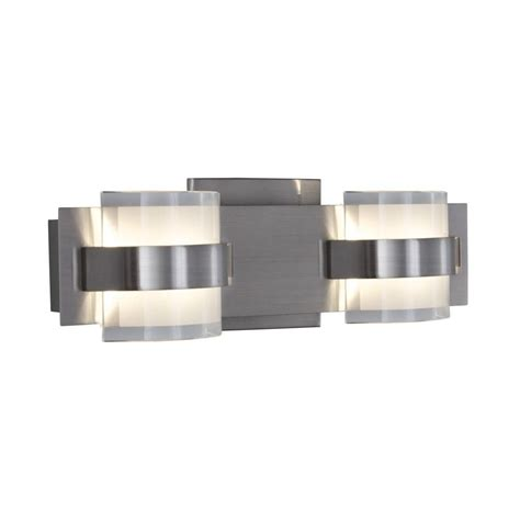 led bathroom vanity lights home depot alternating current restraint 2 light polished chrome led