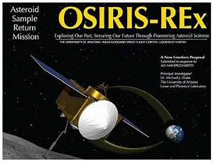 Osiris Rex Mission to Asteroid Bennu - launch on Sept 8th ...