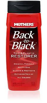 mothers   black bumper trim care restores black