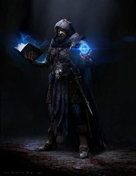 fantasy wizard mage character battle characters rpg dnd artstation dark dragons dungeons medieval battlemage portraits personnages evil concept fighter personnage