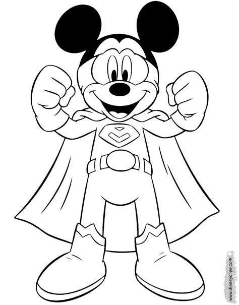 mickey mouse coloring pages occupations disneyclipscom