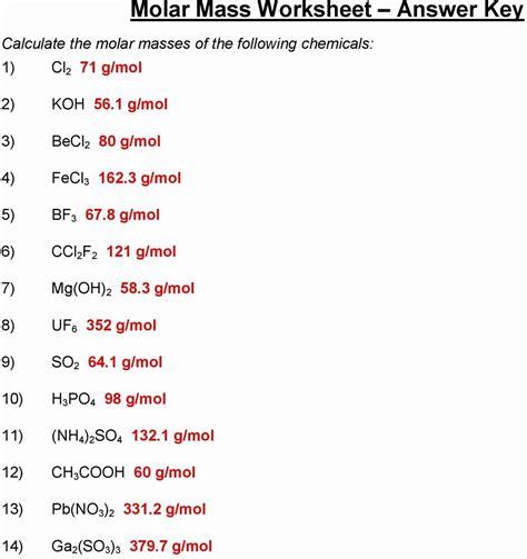 formula or molar mass worksheet answers worksheet resume