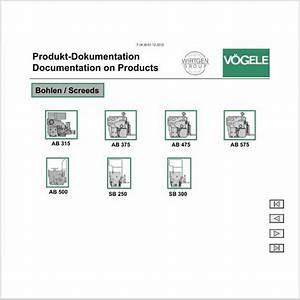 Vogele Electronic Spare Parts Catalog  Vogele Service