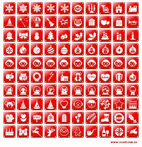 Simple Red Christmas Icon Vector Material Download Free Vector Psd Flash Jpg