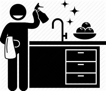 Cleaning Icon Kitchen Sink Washing Icons Clean