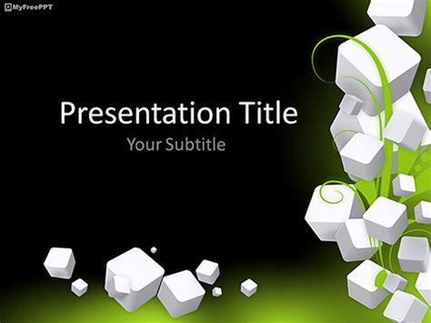 abstract  cubes background powerpoint template