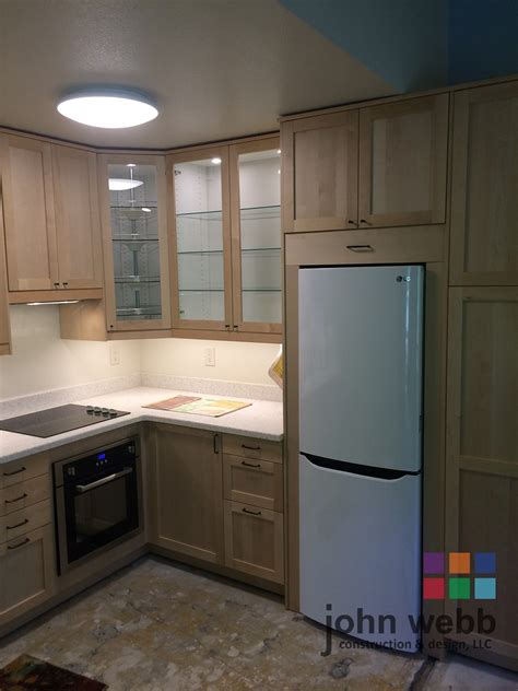 cabinet in kitchen design custom birch ikea cabinets dendra doors 5065