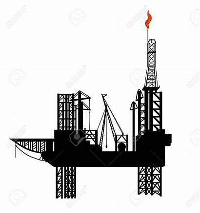 Drilling Oil Platform Clipart Vector Derrick Rig
