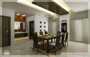 Kitchen and dining interiors kerala home design and for Kitchen dining interior design