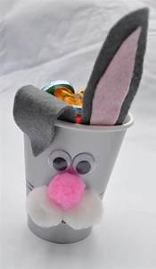 Basteln Mit Plastikbecher : osterdeko basteln kindern papierbecher hase eier filz ohren basteln ostern basteln und ~ Orissabook.com Haus und Dekorationen