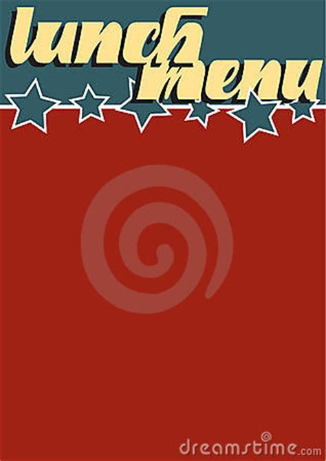 lunch menu stock image image