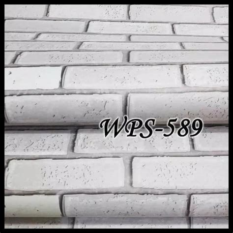 banting harga wallpaper stiker dinding bata putih  dapur