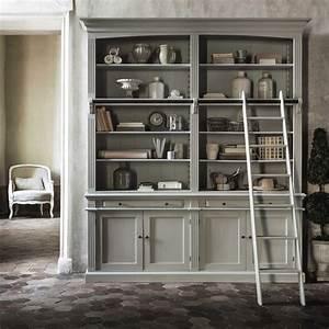 Bücherregal Mit Leiter : b cherregal mit leiter grau amandine maisons du monde ~ Watch28wear.com Haus und Dekorationen