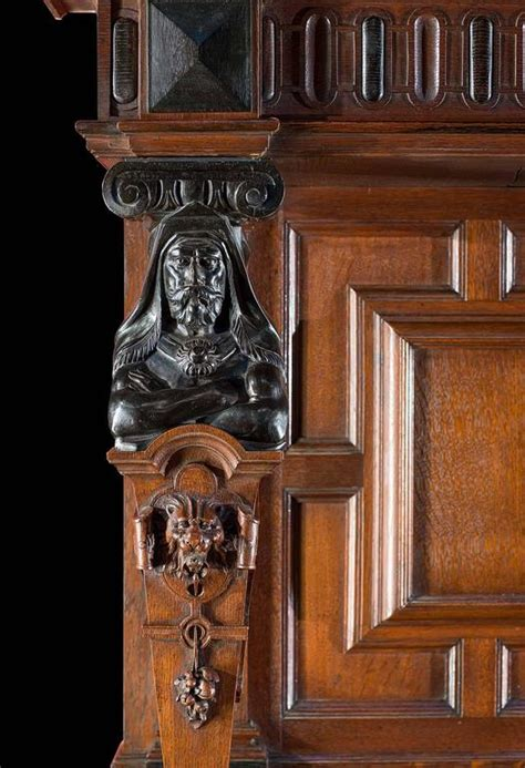 jacobean style carved oak antique fireplace and jacobean style carved oak antique fireplace and
