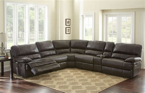 oversized leather reclining sofa rollins deep tobacco leather reclining large sectional