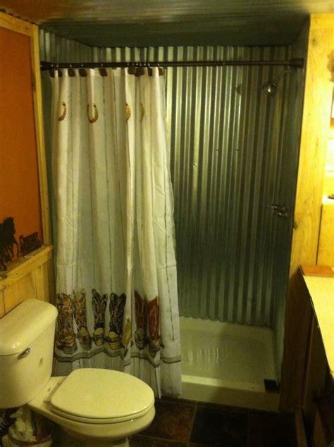 rustic galvanized metal bathroom shower  home ideas