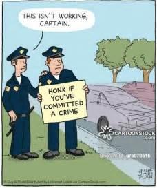 Funny Cartoon Police Officer