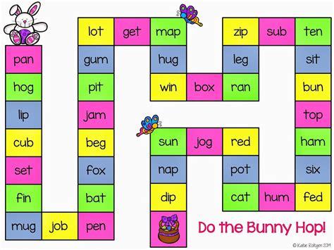bunny hop cvc game  images cvc word games