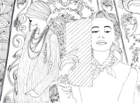 pocket posh panorama adult coloring book fashion unfurled