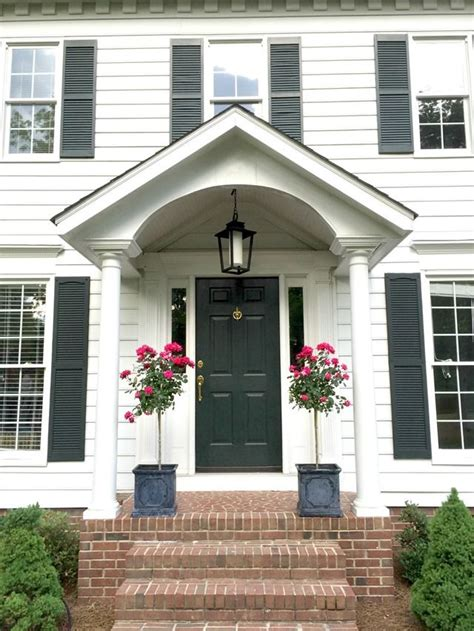 Colonial Front Porch Designs by Front Door Style Edition Bhg S Colorful Ideas