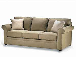 Simple Living Room With Crypton Brown Fabric Sofa Design