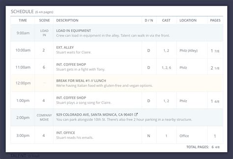 the series and movide site template how to create a better call sheet download free callsheet