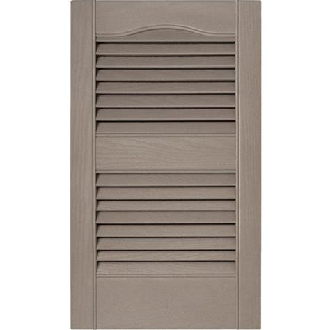 builders edge 15 in x 25 in louvered vinyl exterior