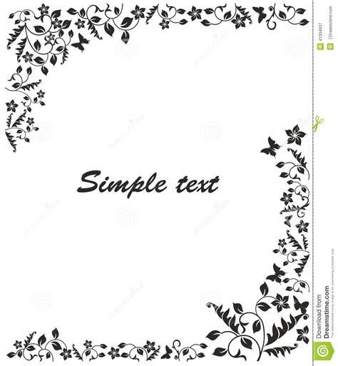 cadre noir et blanc cadre noir et blanc simple illustration de vecteur image 41334637