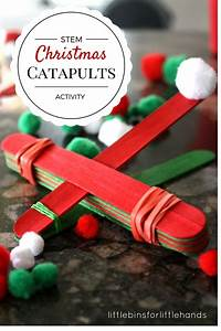 Christmas STEM Activity Simple Catapult for Kids To Make