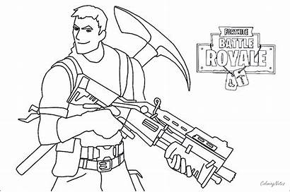Fortnite Coloring Pages Battle Royale Characters Drift