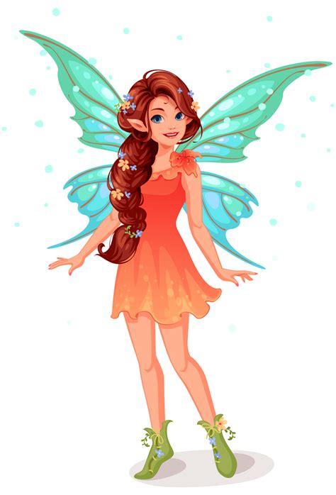 cute  fairy standing   vectors