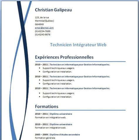 Télécharger Un Cv Word by Resume Format Format De Cv A Telecharger