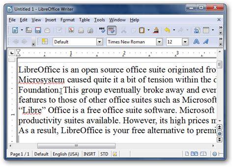 libreoffice  microsoft office suite