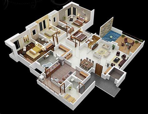 bedroom apartmenthouse plans architecture