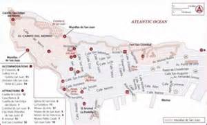 Old San Juan Puerto Rico Map