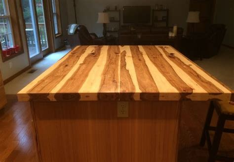 handmade solid hickory bar top island top  glessboards custommadecom