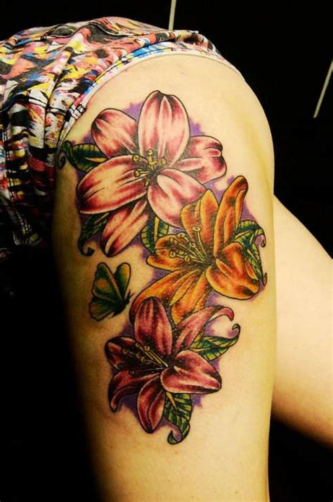 unusual lily tattoos designs