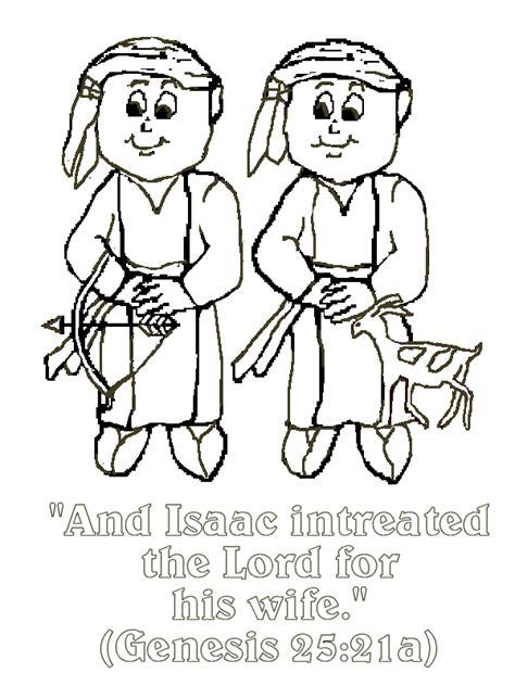 esau  jacob bible verse coloring page