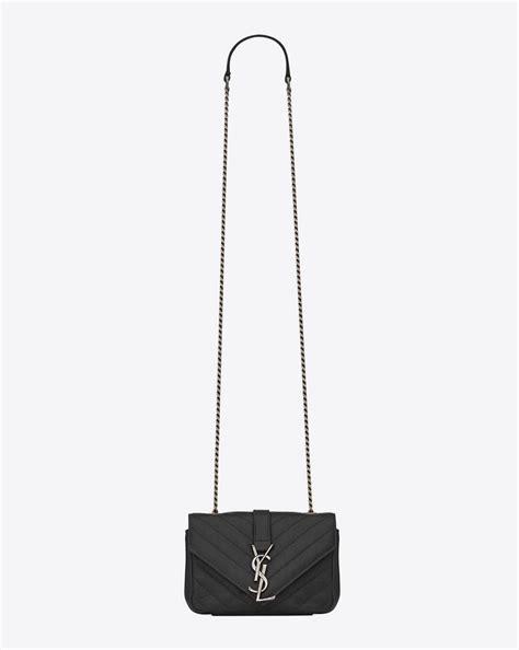 saint laurent classic baby monogram saint laurent chain bag  black matelasse leather yslcom