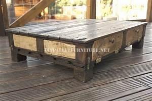 Table De Salon Industrielle : table rustique de salonmeuble en palette meuble en palette ~ Teatrodelosmanantiales.com Idées de Décoration