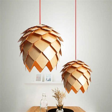 vintage pendant lights wooden l shades for kitchen