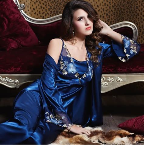robe de chambre satin femme plus size lace silk satin robe pajama set nightgown