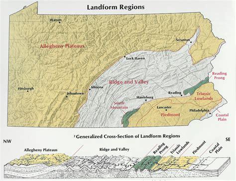 mountain ranges in map map of pennsylvania mountains swimnova
